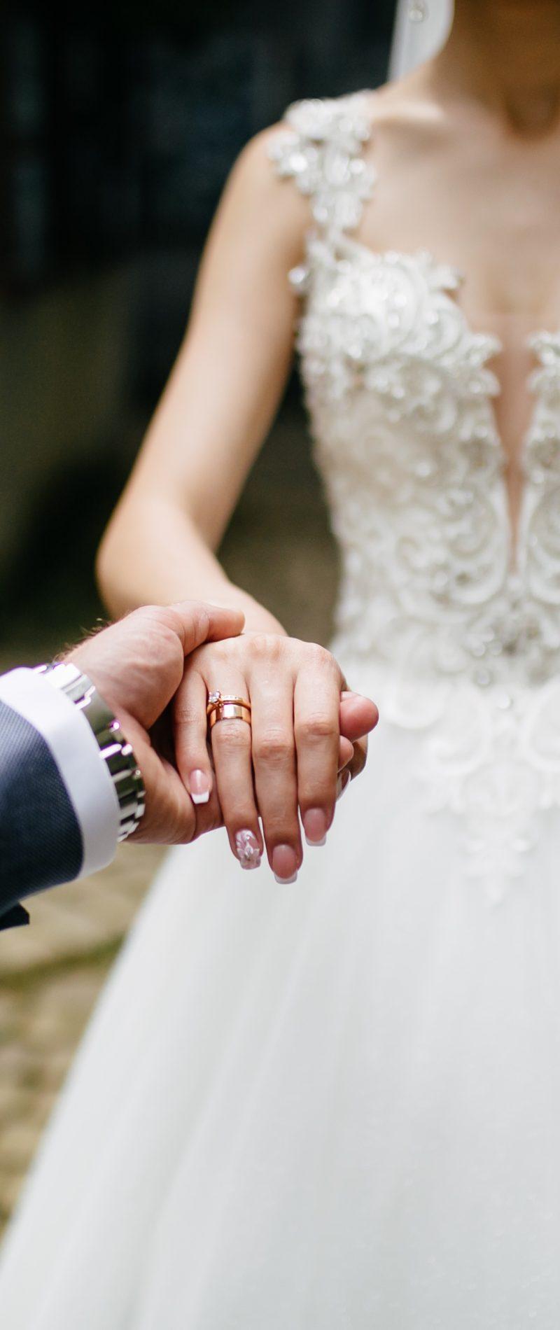 wedding bouquet in bride's hands